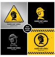 set hard hat area symbols vector image vector image