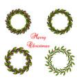 set of christmas wreath vector image vector image
