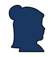 Silhouette of woman head icon