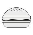 single hamburger icon vector image vector image