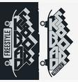 skateboarding t-shirt typography print emblem vector image vector image