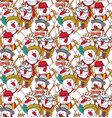 snowmen fashion hipster winter seamless pattern vector image