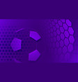 soccer background in purple colors vector image vector image