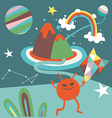 Space mail cartoon vector image