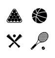 sports ball simple related icons vector image
