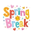 Spring break vector image