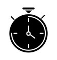 stopwatch clock time silhouette style icon design vector image