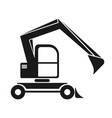 the black silhouette of an excavator with a dipper vector image vector image