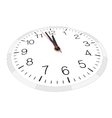 View from one side of clock face vector image vector image