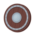 Viking shield icon in cartoon style isolated on vector image vector image