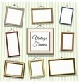Vintage photo or picture frames vector image