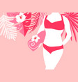 woman on the beach with towel vector image