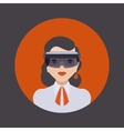Women in the virtual reality headset vector image vector image