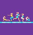 workout fitness girl set 3d paper art heath