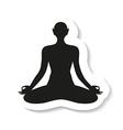 yoga meditation harmony body and soul template vector image vector image