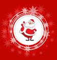 santa claus christmas festive background vector image