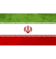 True proportions Iran flag with texture vector image
