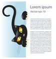 cute little black kitty vector image