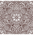 Seamless paisley pattern with flowers in the Asian vector image