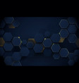 abstract luxury dark blue and gold hexagons vector image vector image