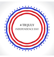 American Independence Day July 4th greeting card i vector image