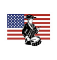 American Patriot Drummer Stars and Stripes Flag vector image vector image