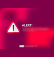 attention warning alert sign banner with vector image