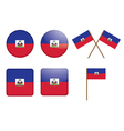 badges with flag of Haiti vector image vector image