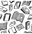 Books sketch seamless vector image vector image