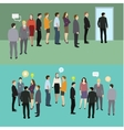 Business people standing in a line vector image vector image