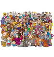 cartoon people in the crowd vector image