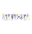 collection of dancers men and women performing vector image