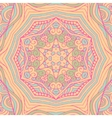 Colorful ornamental ethnic card with mandala vector image vector image