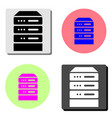 computer server flat icon vector image