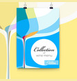 cover for menu abstract composition with wine vector image