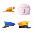design of headgear and cap logo collection vector image vector image