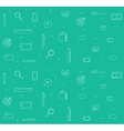 doodle icons background vector image