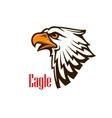Eagle head mascot emblem vector image vector image