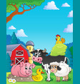 farm animals theme image 4 vector image vector image