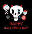 festive greeting card for halloween vector image