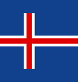 flag of iceland vector image