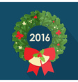 Flat design of christmas wreath vector image vector image