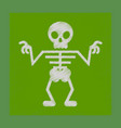 flat shading style icon halloween skeleton vector image vector image