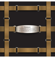 Frame made of leather belts steampunk vector image vector image
