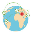 global migration icon flat style vector image