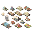 Government Building Isometric Set vector image