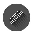 hair brush icon in flat style comb accessory with vector image vector image