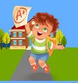 happy school boy with good a grade poster vector image