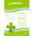 Health care document template vector image