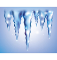 Icicles vector image